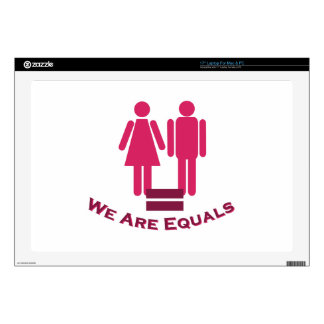 """We Are Equals Decals For 17"""" Laptops"""
