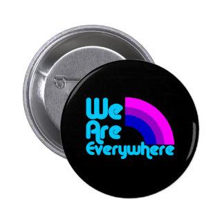 We Are Everywhere Bi Black Button