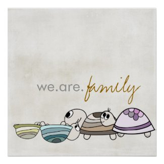 we are family kid poster print