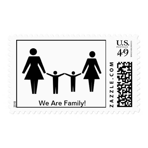 """We Are Family!"" Postage Stamps"