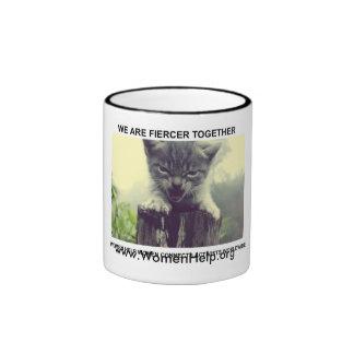 We are Fiercer Together Ringer Coffee Mug