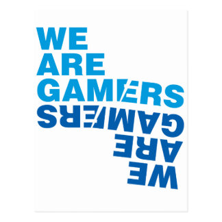 We Are Gamers - Video Games Gaming Computer Postcard