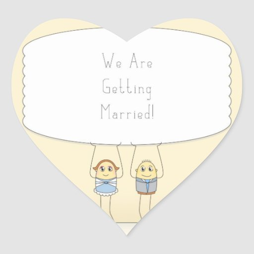 We Are Getting Married - Heart Stickers