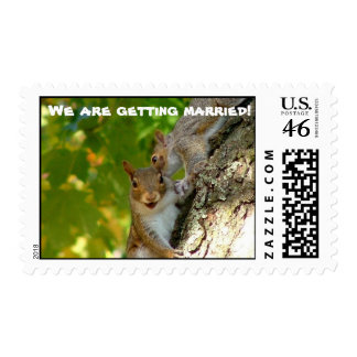 We are getting married postage stamp