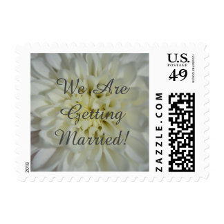We Are Getting Married! (white blossoms) Postage