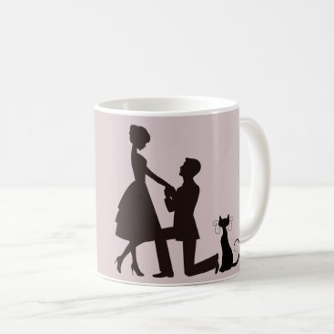 Wedding Themed We are getting meowied / married ring mug