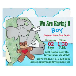 We Are Having A Boy, Elephant Card