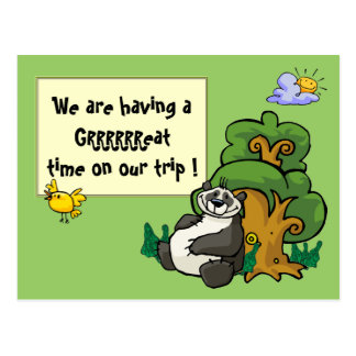 We are having a GRRRRRReat time on our trip ! Postcard