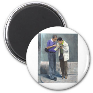 We Are Here! 2 Inch Round Magnet