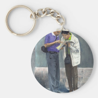 We Are Here! Keychain