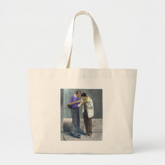 We Are Here! Large Tote Bag