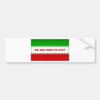 We are here to stay bumper sticker