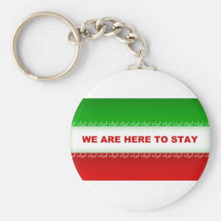 We are here to stay keychain