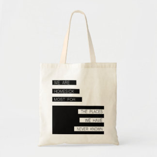 We Are Homesick - Inspirational Quote, Modern Budget Tote Bag