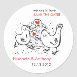 we are in love STD with cute birds Round Stickers