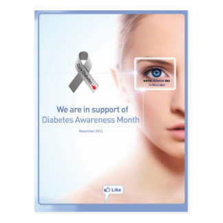 We are in support of Diabetes Postcard