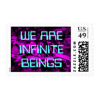 WE ARE INFINITE postage stamp