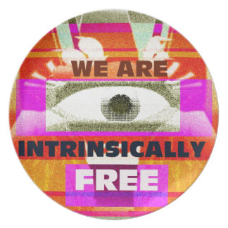We are intrinsically Free Dinner Plate