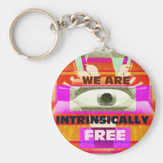 We are intrinsically Free Keychain