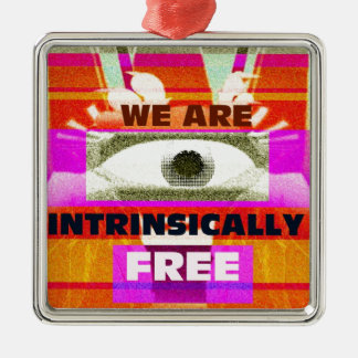 We are intrinsically Free Metal Ornament