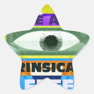 We are intrinsically free! star sticker