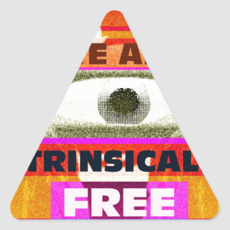 We are intrinsically Free Triangle Sticker