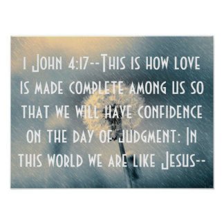 We are like Jesus bible verse 1 John 4:17 Print