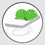 We Are Like Two Peas In A Pod Classic Round Sticker