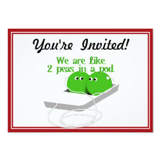 We are Like Two Peas in a Pod Personalized Invitation
