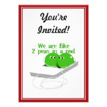 We are Like Two Peas in a Pod Invite