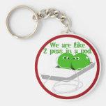 We are Like Two Peas in a Pod Keychain