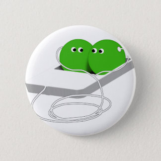 We Are Like Two Peas In A Pod Pinback Button