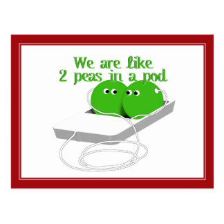 We are Like Two Peas in a Pod Postcard