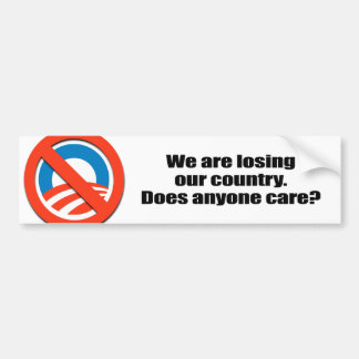 We are losing our country - Does anyone care Car Bumper Sticker
