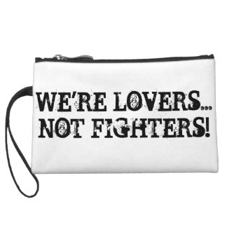 We are Lovers Not Fighters Mini Clutch Bag