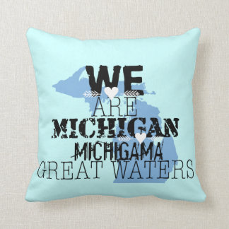 We Are Michigan Michigama Great Waters Throw Pillow