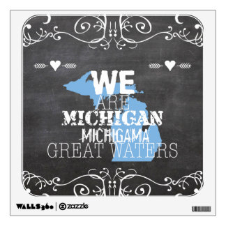 We Are Michigan Michigama Great Waters Wall Sticker