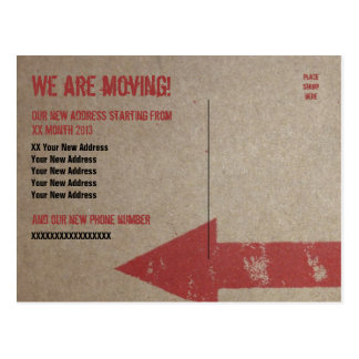 'We are Moving' Card Template