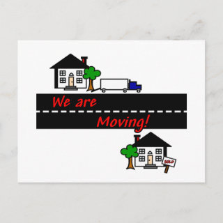 We are Moving Postcard