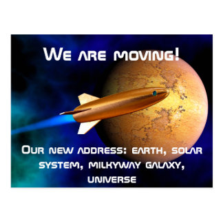 We are moving postcards
