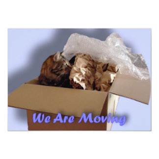 We are moving. Relocating. New address. New home 5x7 Paper Invitation Card