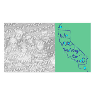 we are moving to cali Double-Sided standard business cards (Pack of 100)