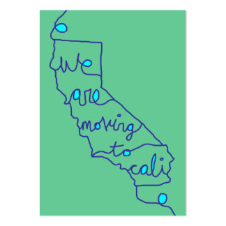 we are moving to cali large business card