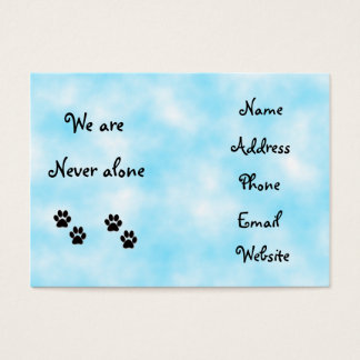 We are never alone-business cards