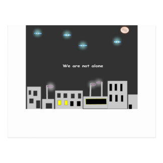 we-are-not-alone postcard