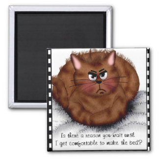 We are not amused! 2 inch square magnet