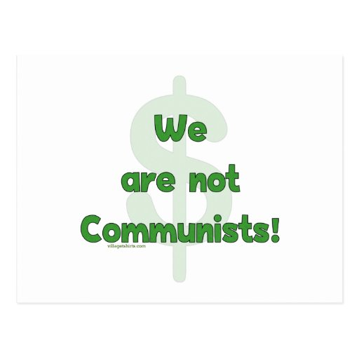 We Are Not Communists Postcard