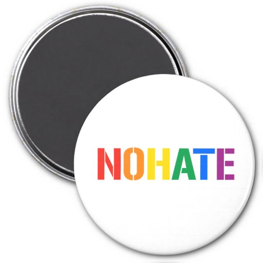 WE ARE NOT HATERS FRIDGE MAGNET