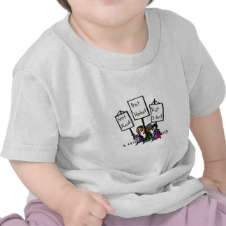 We are not racist, violent, or silent! tshirts