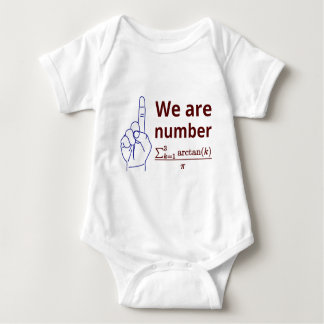 We are number one! baby bodysuit